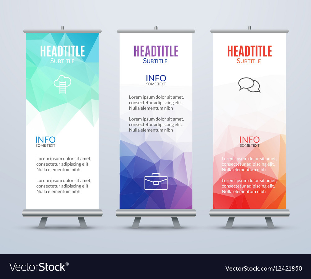 Banner Stand Design Template With Abstract Inside Banner Stand Design Templates