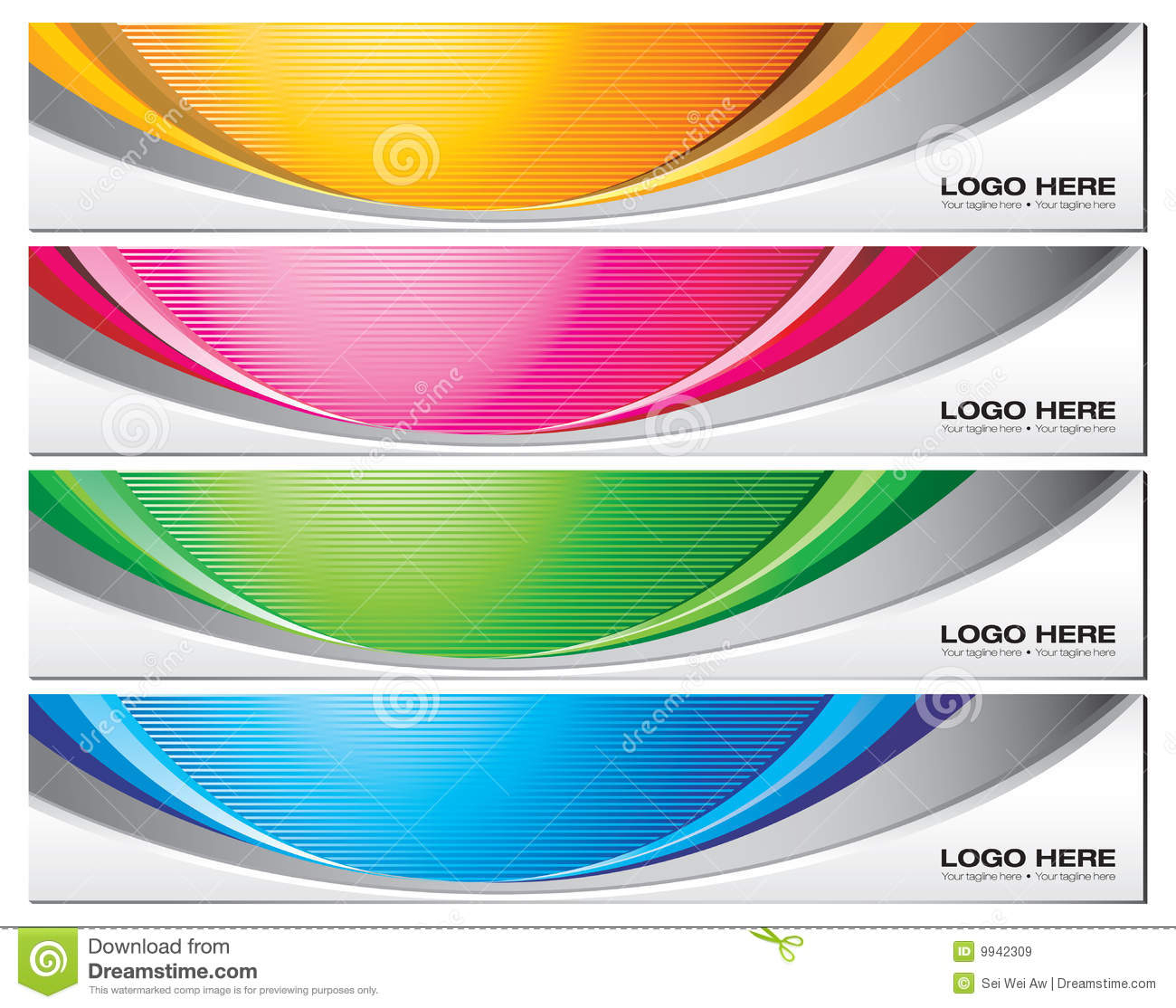 Banner Templates Stock Vector. Illustration Of Vector - 9942309 Throughout Free Website Banner Templates Download