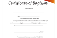 Baptism Certificate – 4 Free Templates In Pdf, Word, Excel pertaining to Baptism Certificate Template Download