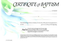 Baptism Certificate Xp4Eamuz | Certificate Templates, Baby for Baby Christening Certificate Template