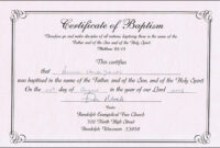 Baptism Certificates Free Online | Denver's Certificate Of Inside Baby Death Certificate Template