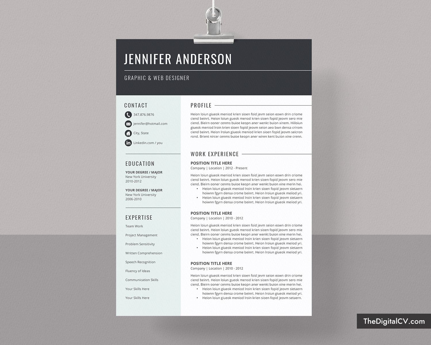Basic And Simple Resume Template 2019 2020, Cv Template, Cover Letter,  Microsoft Word Resume Template, 1 3 Page, Modern Resume, Creative Resume, Inside Microsoft Word Resumes Templates