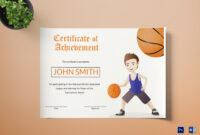 Basketball Certificate Template regarding Basketball Certificate Template