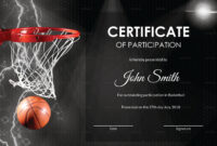 Basketball Participation Certificate Template intended for Basketball Certificate Template