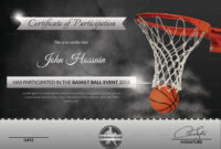 Basketball Participation Certificate Template regarding Basketball Certificate Template