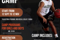 Basketball Sports Camp Flyer Free Psd | Freedownloadpsd for Basketball Camp Brochure Template