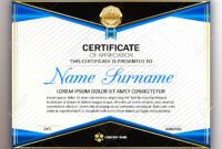 Beautiful Certificate Template Design With Best Award Symbol.. Within Beautiful Certificate Templates