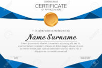 Beautiful Certificate Template. Vector Design For Award, Diploma Pertaining To Beautiful Certificate Templates