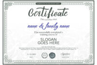 Beautiful Certificate Template. Within Beautiful Certificate Templates