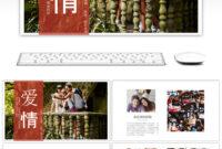 Beautiful Love Album Wedding Wedding Dynamic Album Ppt intended for Powerpoint Photo Album Template