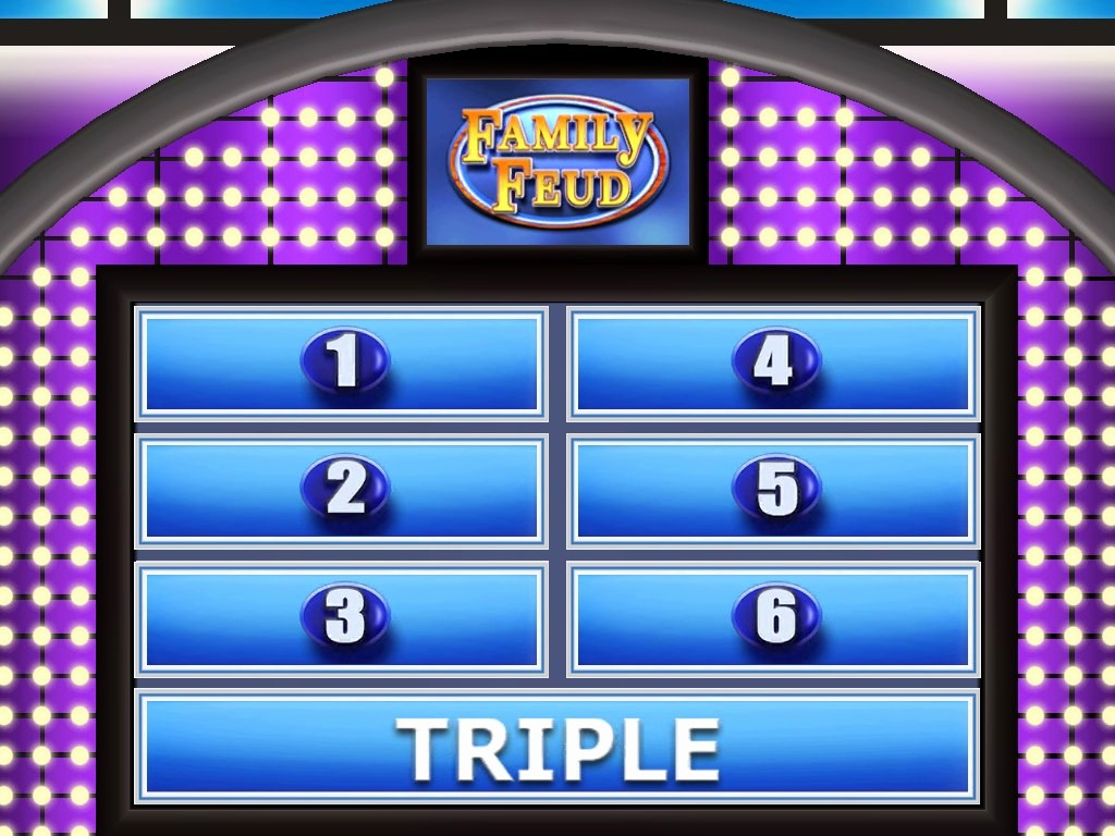 Beautiful Photograph Of Free Family Feud Powerpoint Template Inside Family Feud Game Template Powerpoint Free
