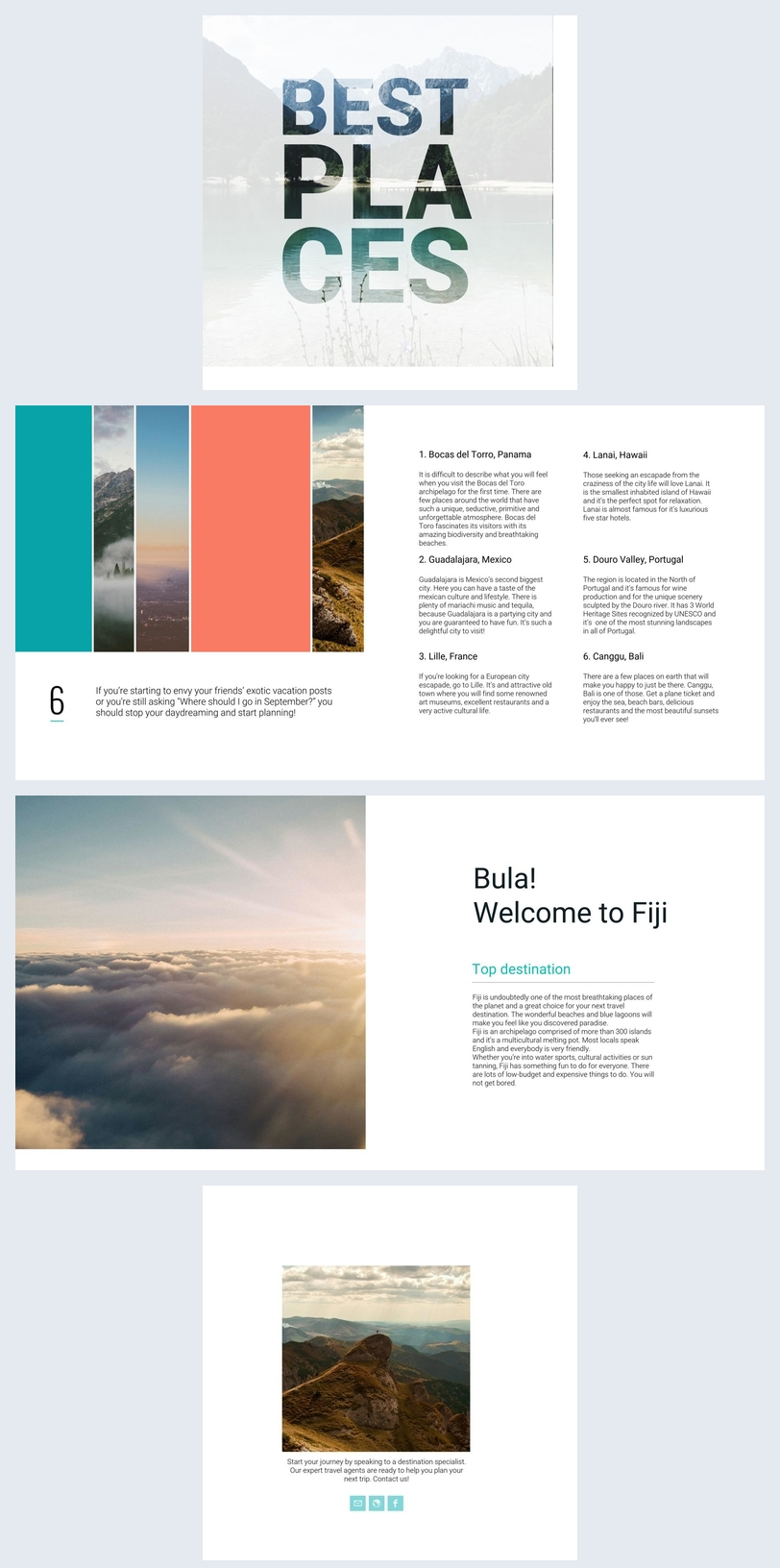 Beautiful Travel Guide Brochure Template - Flipsnack In Travel Guide Brochure Template