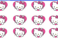 "Beegoo Designs: ""hello Kitty Hearts"" Background & ""hello pertaining to Hello Kitty Banner Template"