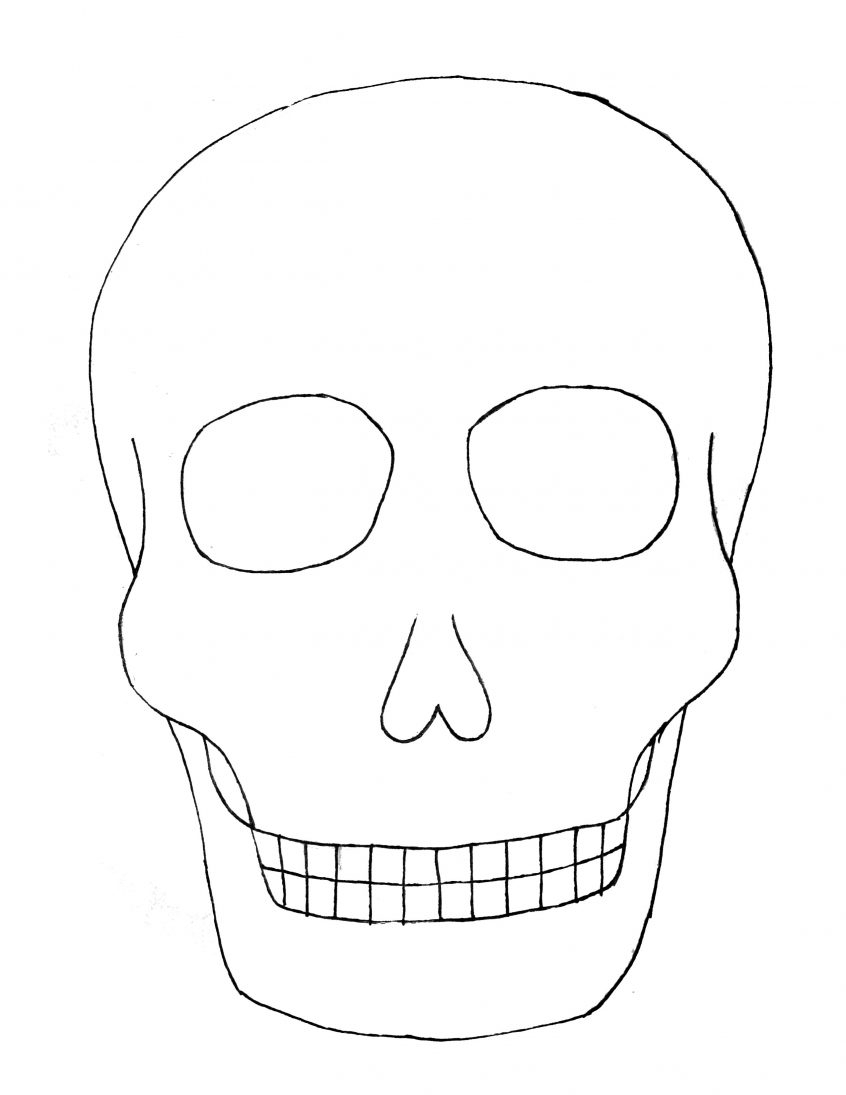 Best Coloring: Day Of The Sugar Skull Blank Template Skulls With Blank Sugar Skull Template
