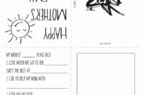 Best Coloring: Free Printable Mothers Day Cards Or Mother S with regard to Mothers Day Card Templates