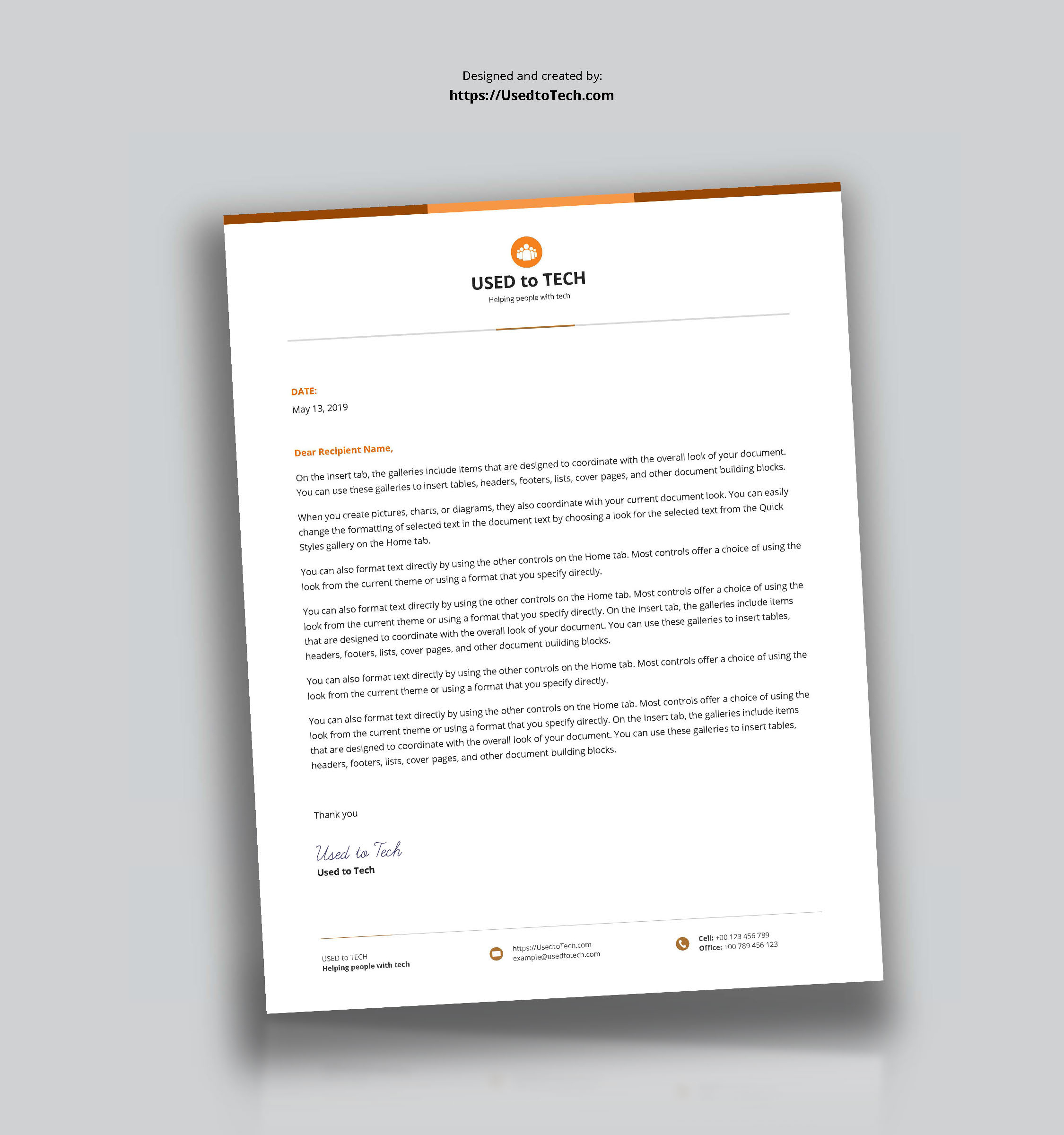 Best Letterhead Design In Microsoft Word – Used To Tech Throughout How To Create A Letterhead Template In Word