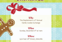 Best Photos Of Cookie Exchange Sign Up Template – Christmas with Cookie Exchange Recipe Card Template