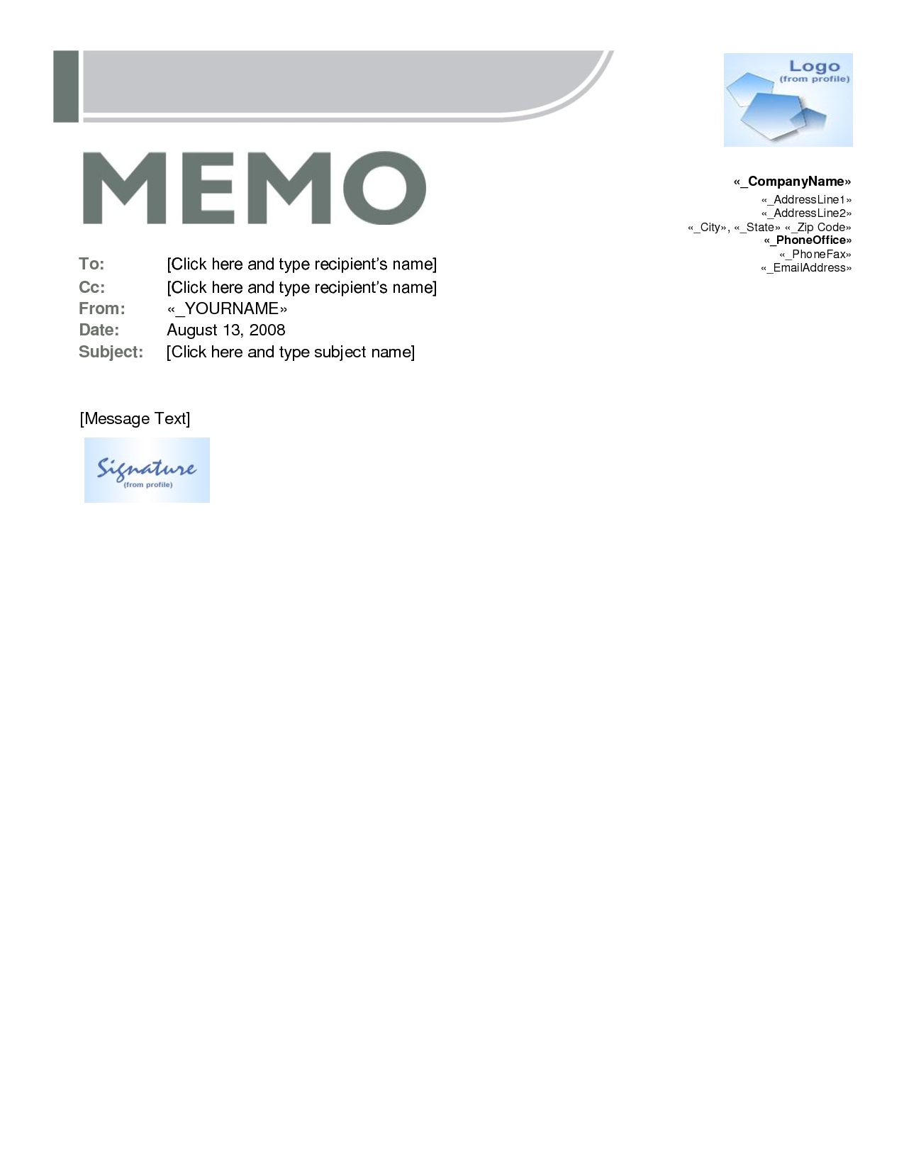 Best Photos Of Free Memo Templates Word Document – Microsoft Throughout Memo Template Word 2010