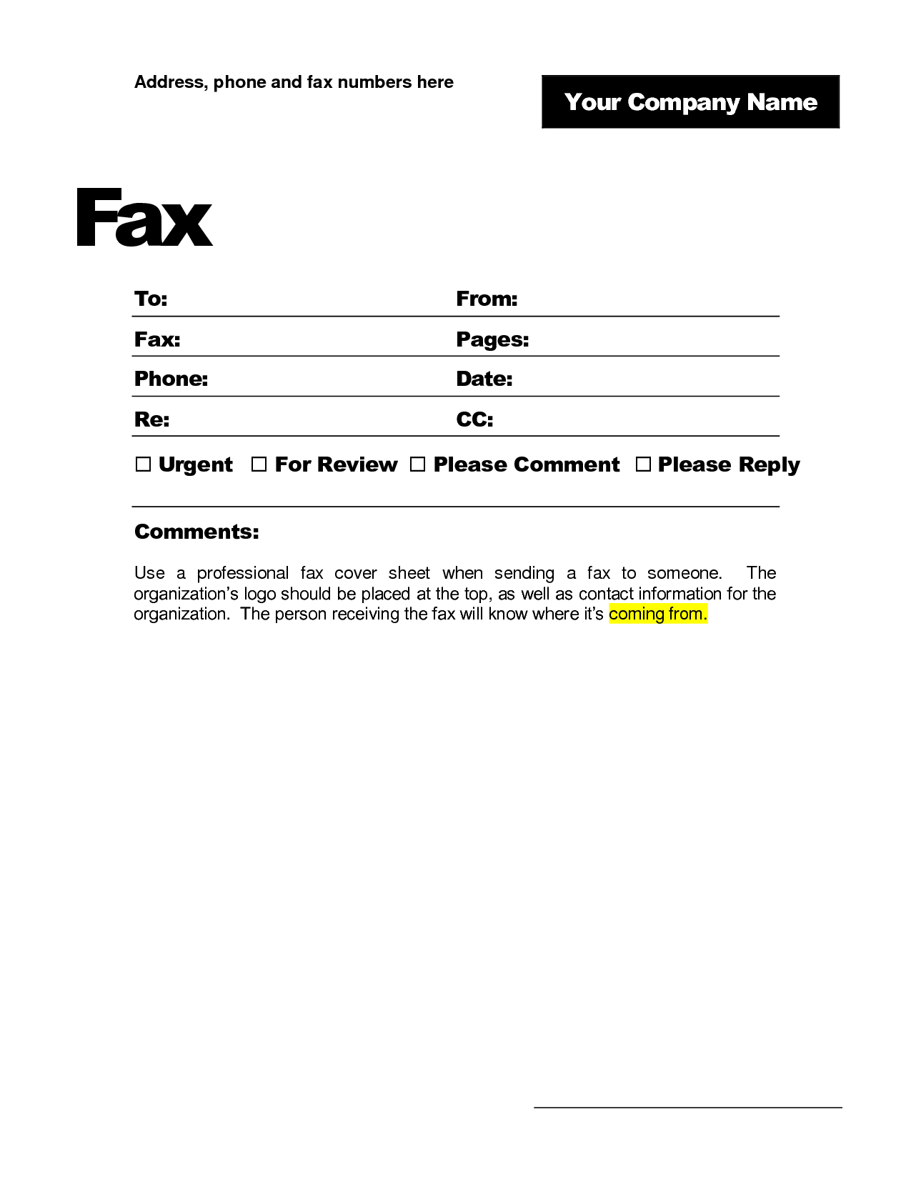 Best Photos Of Microsoft Fax Cover Sheet – Microsoft Fax With Fax Cover Sheet Template Word 2010