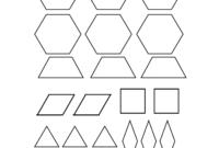 Best Photos Of Pattern Blocks Template Printables – Pattern with Blank Pattern Block Templates