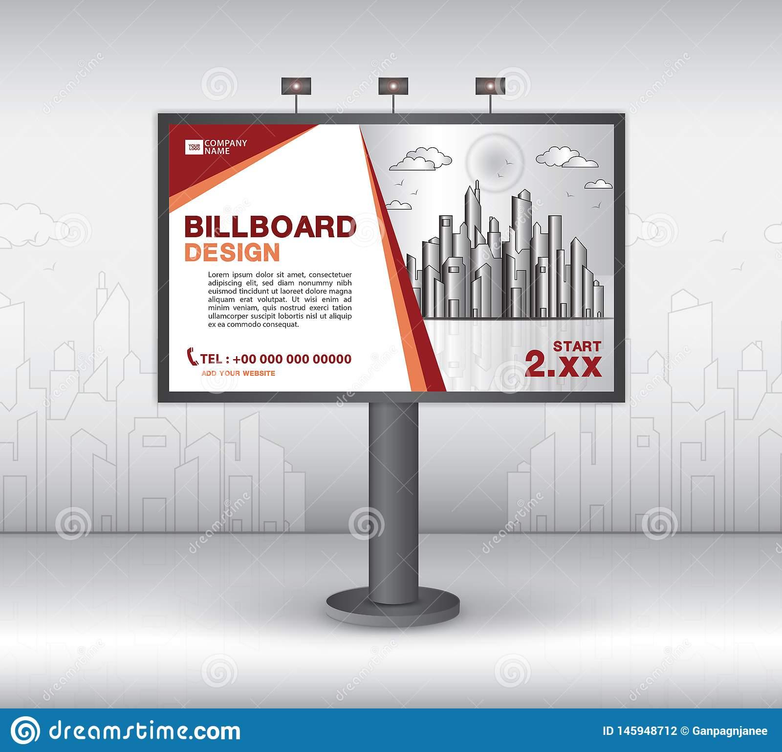 Billboard Banner Template Vector Design, Advertisement Pertaining To Outdoor Banner Template