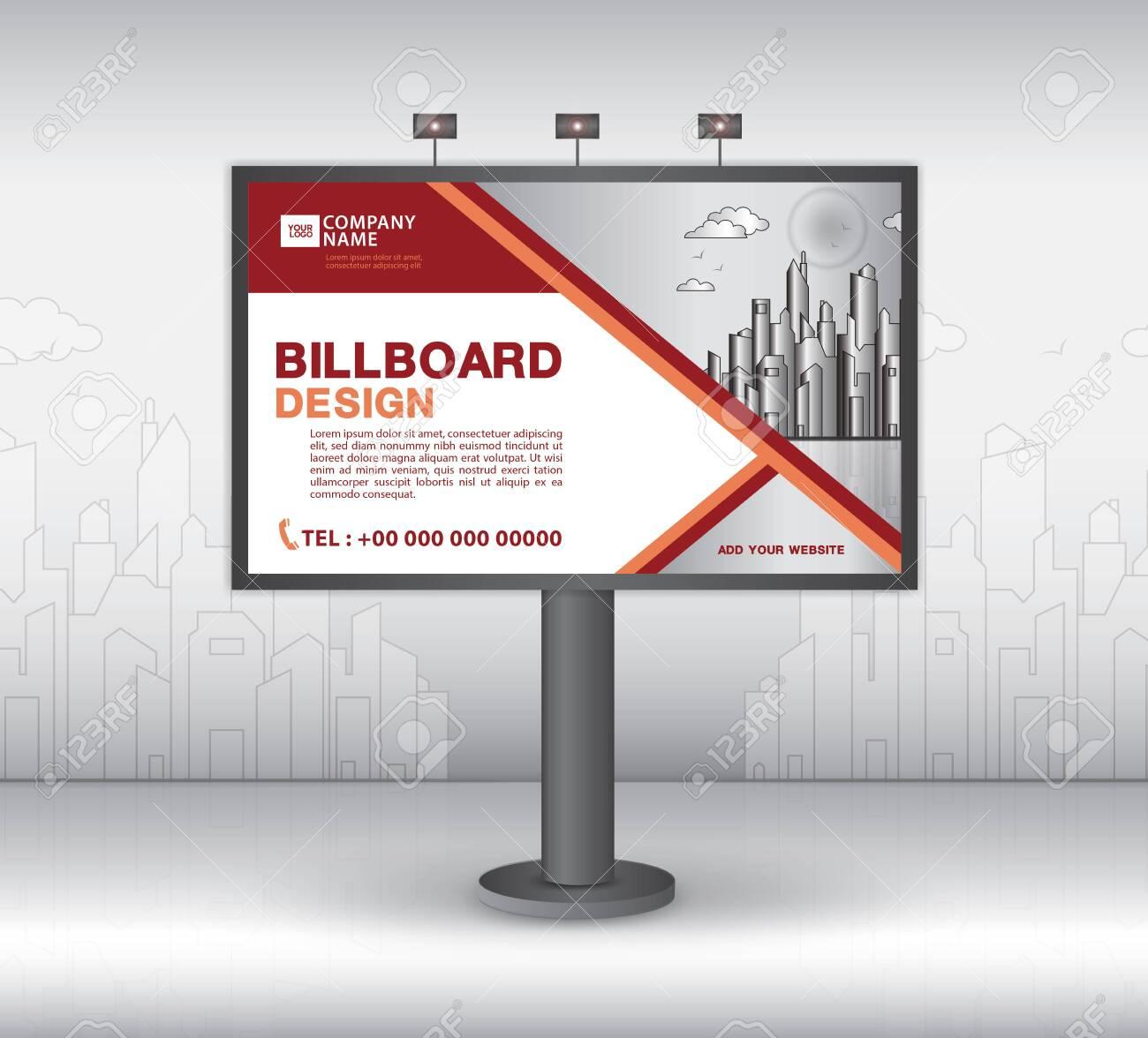 Billboard Banner Template Vector Design, Advertisement, Realistic.. Inside Outdoor Banner Template