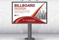 Billboard Banner Template Vector Design, Advertisement, Realistic.. pertaining to Outdoor Banner Template