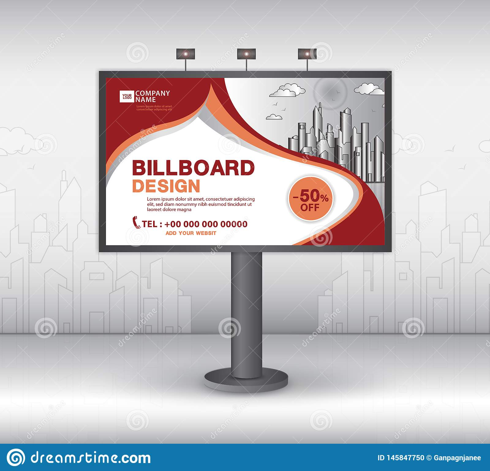 Billboard Banner Template Vector Design, Advertisement Throughout Outdoor Banner Template