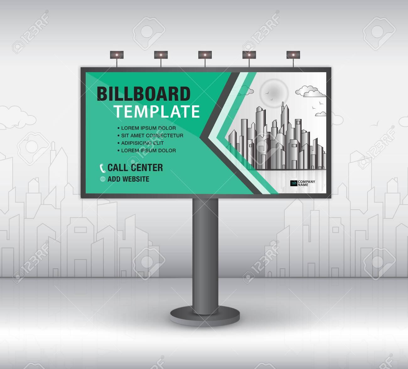 Billboard Design Vector, Banner Template, Advertisement, Realistic.. With Outdoor Banner Template