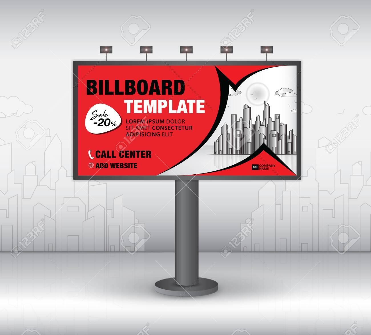 Billboard Design Vector, Banner Template, Advertisement, Realistic.. With Regard To Outdoor Banner Template
