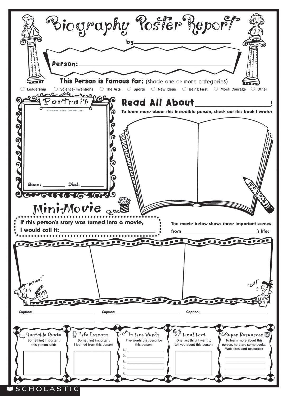 Biography Book Report Template |  Biography Report Regarding Biography Book Report Template