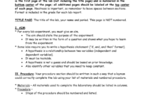 Biology Lab Report Format Pertaining To Biology Lab Report Template