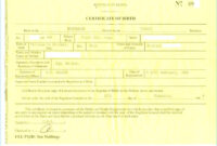 Birth Certificate Template Us Sample New Fabulous 10 Best throughout South African Birth Certificate Template