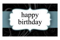 Birthday Card (Blue Ribbon Design, Half-Fold) inside Half Fold Greeting Card Template Word