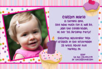 Birthday Card Invitation Sample | Theveliger inside First Birthday Invitation Card Template