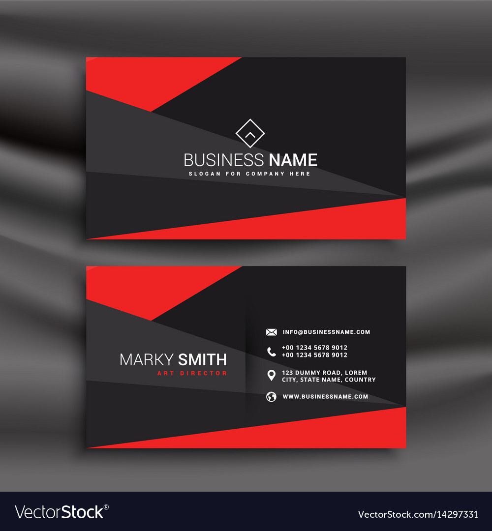 Black And Red Business Card Template With Throughout Visiting Card Templates Download