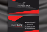 Black And Red Business Card Template With within Free Bussiness Card Template