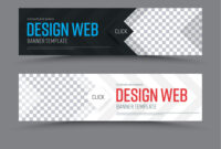 Black And White Horizontal Web Banner Template within Website Banner Templates Free Download