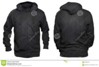 Black Hoodie Mock Up Stock Image. Image Of Casual, Cotton with Blank Black Hoodie Template