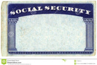 Blank American Social Security Card Stock Photo – Image Of intended for Blank Social Security Card Template Download