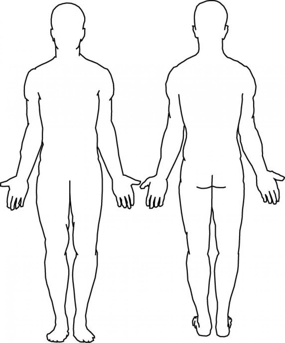 Blank Body | Final Tattoo Ideas | Human Body Diagram, Body For Blank Body Map Template