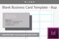 Blank Business Card Indesign Template with Plain Business Card Template