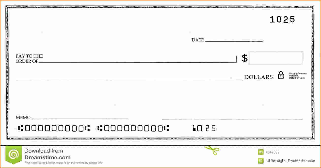 Blank Business Check Template   Template   Business Checks Regarding Blank Business Check Template Word