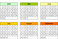 Blank Calendars – Free Printable Microsoft Word Templates pertaining to Month At A Glance Blank Calendar Template