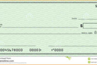 Blank Check Template | Template Business Regarding Fun Blank throughout Blank Business Check Template