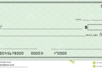 Blank Check With Open Space For Your Text Stock Illustration regarding Blank Cheque Template Download Free