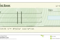 Blank Cheque Illustration Stock Vector. Illustration Of inside Blank Cheque Template Download Free