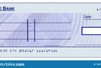 Blank Cheque Stock Vector. Illustration Of Design, Blue with regard to Blank Cheque Template Download Free