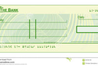 Blank Cheque Stock Vector. Illustration Of Document, Cheque inside Blank Cheque Template Download Free