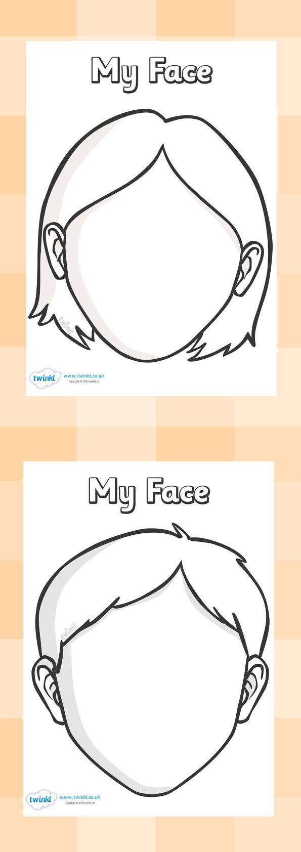 Blank Faces Templates. Free Printables - Children Can Draw Inside Blank Face Template Preschool
